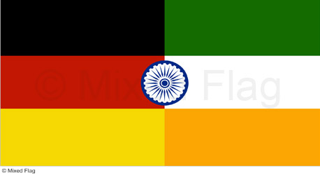 Mixed India and Germany Flag T-shirt Designs