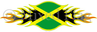 Jamaica Flames Flag